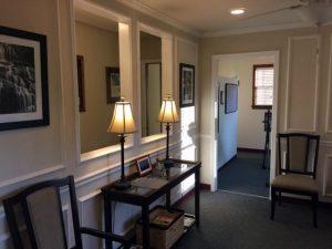 Waiting room for chiropractic patients