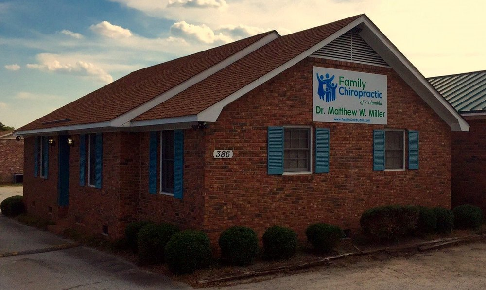 The front of the Family Chiropractic of Columbia chiropractor office building in Columbia, SC